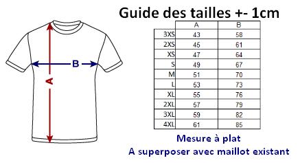 Guide des tailles M1 Shadow16 Badminton